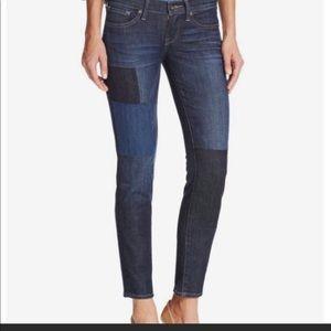 Lucky Brand Charlie Skinny patchwork jeans